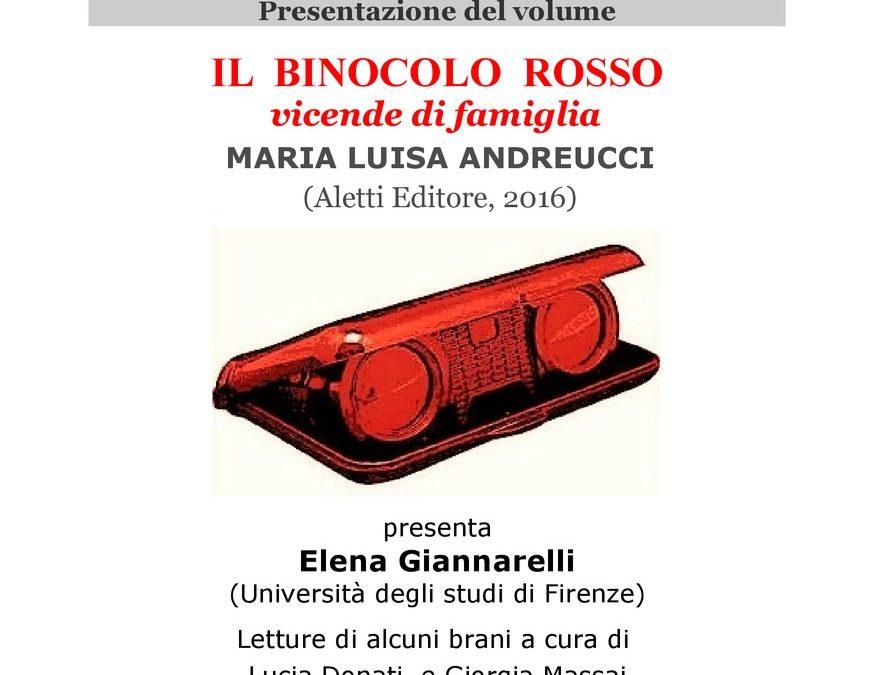 IL BINOCOLO ROSSO,  presentazione del libro