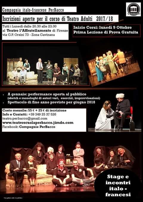 PERBACCO, Teatro scuola per adulti