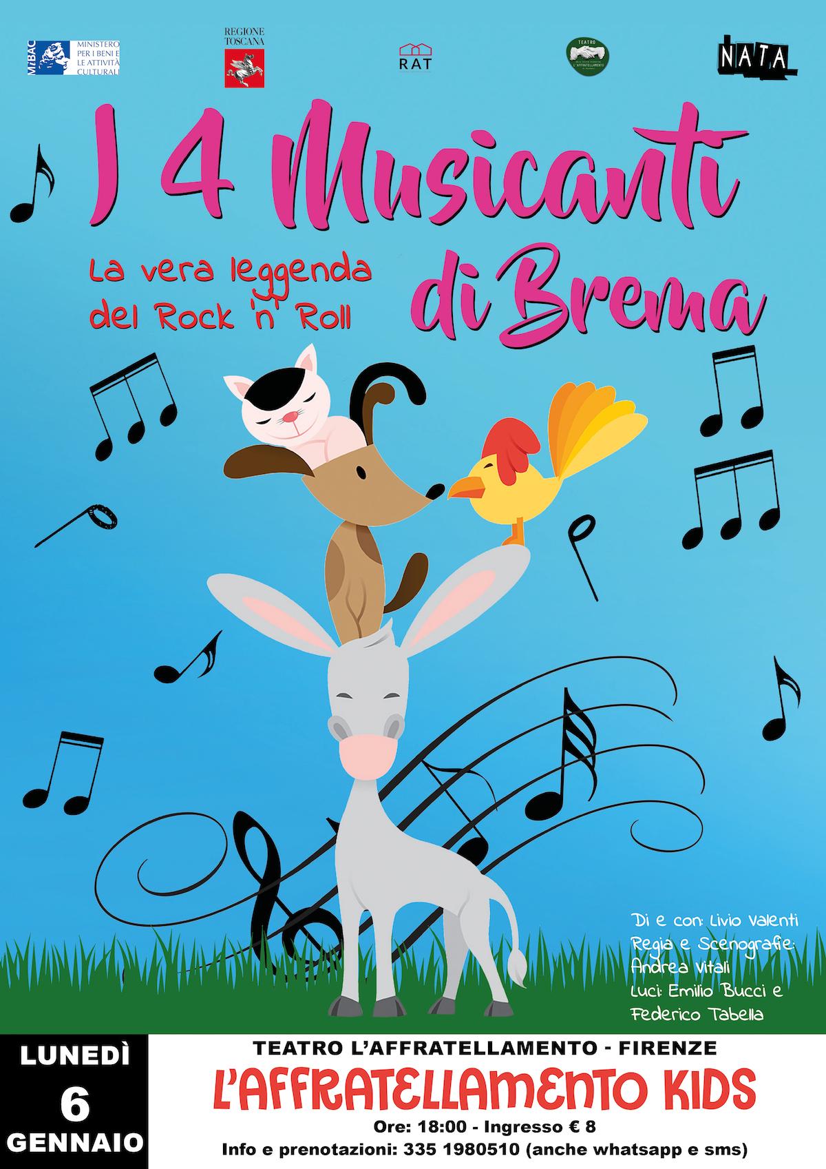 I 4 MUSICANTI DI BREMA (spettacolo per bambini) TEATRO L