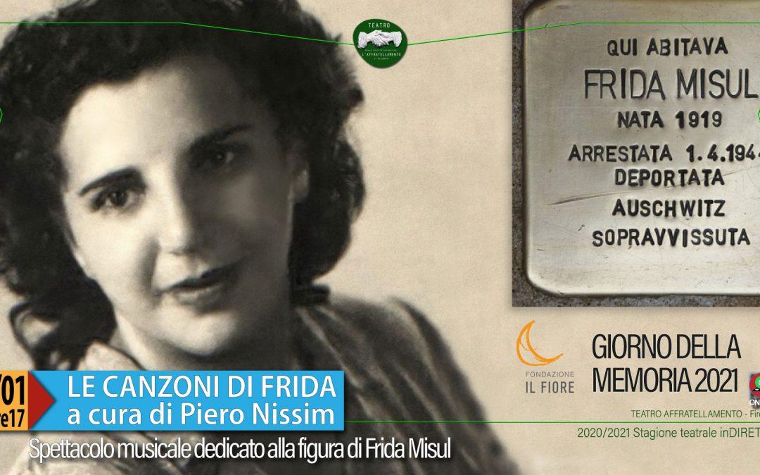 LE CANZONI DI FRIDA a cura di Piero Nissim. Giorno della memoria 2021 on-line ▶︎ VIDEO