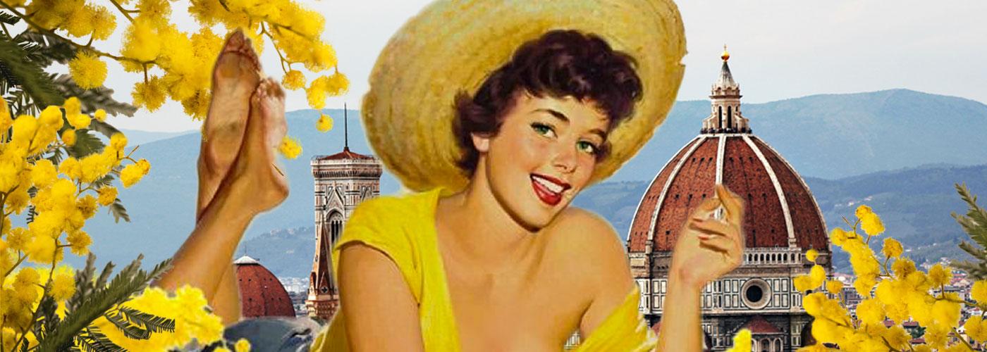 donna-gialla-mimose-e-Firenze-Slide