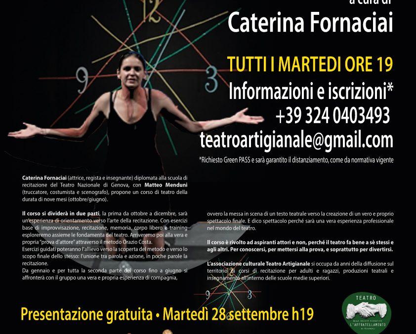 NUOVO CORSO DI TEATRO a cura di CATERINA FORNACIAI (martedì)