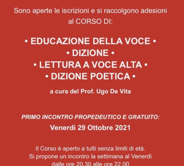 Ugo De Vita, NUOVO CORSO DI DIZIONE TEATRALE • LEZIONE GRATUITA